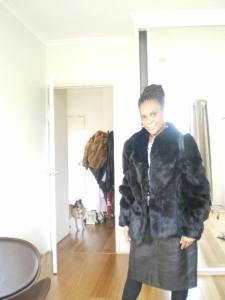 wearing vintage fur thrifted via Uturn