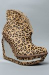 Xandu fur shoe in Cheetah by Jeffrey Campbell