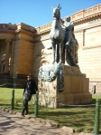 Me under a horse at the AGNSW