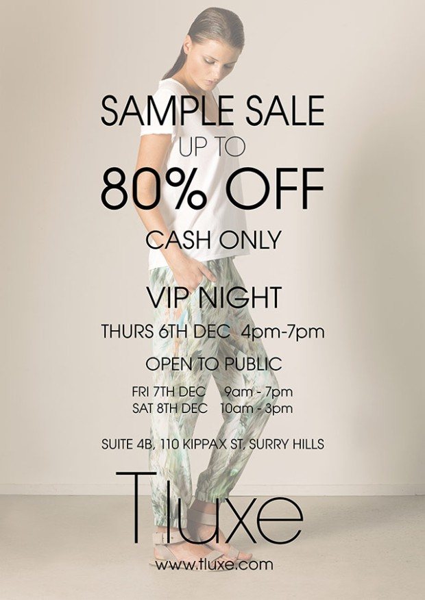 Tluxe Sample Sale