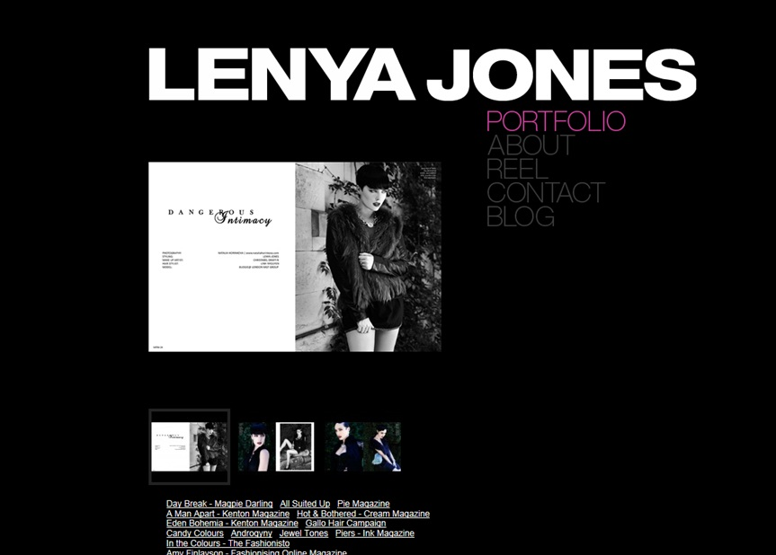 New Work on www.lenyajones.com